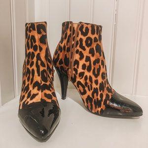 Jeffrey Campbell cheetah booties